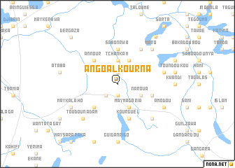map of Angoal Kourna