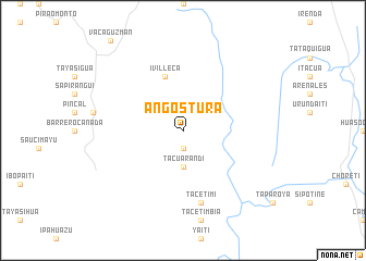 map of Angostura