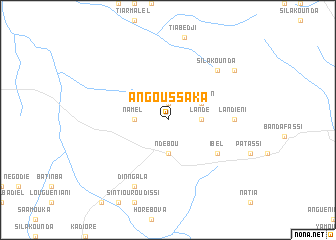 map of Angoussaka