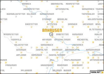 map of Anhausen