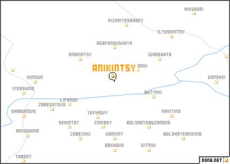 map of Anikintsy
