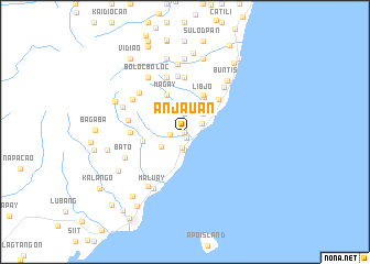 map of Anjauan