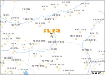 map of Anjīrān