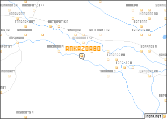 map of Ankazoabo