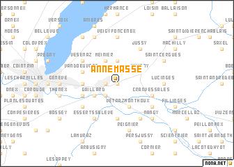 Annemasse France map nonanet