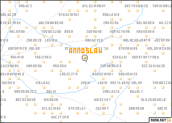 map of Annosław