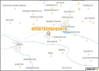 map of Anno-Ternovskaya