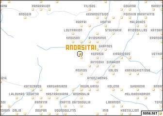 map of Áno Asítai