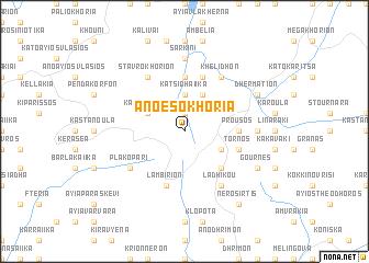 map of Áno Esokhória