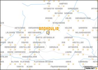map of Áno Moúlia