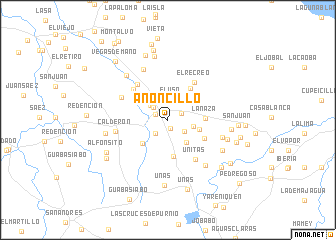 map of Anoncillo