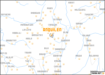 map of Anquilen