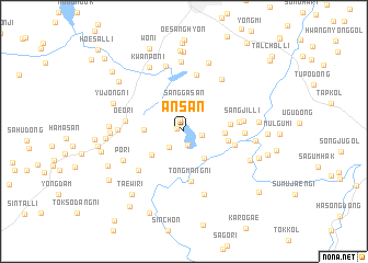 Ansan Korea South map nonanet
