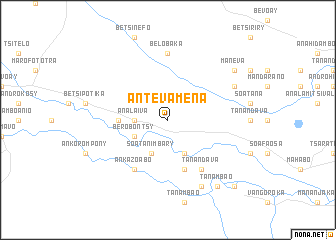 map of Antevamena