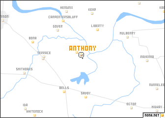 map of Anthony