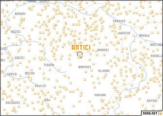 map of Antići