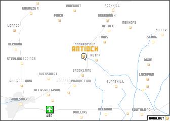 map of Antioch