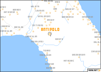 map of Antipolo