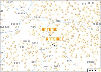map of Antonići