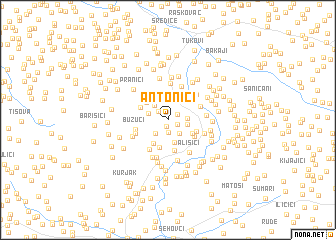 map of Antonići
