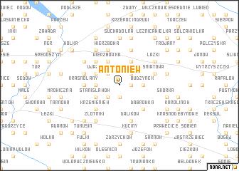 map of Antoniew