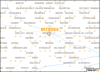 map of Antoniew