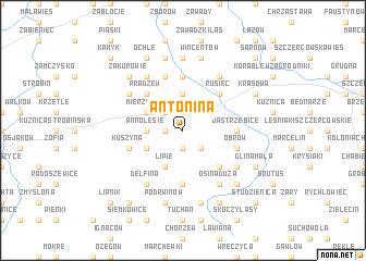 map of Antonina