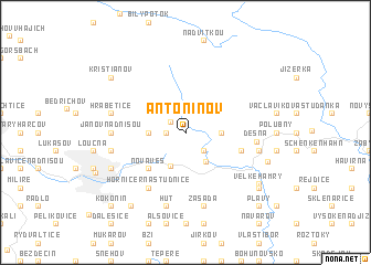 map of Antonínov