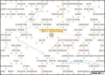 map of Antoninów