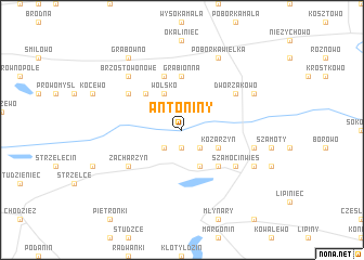 map of Antoniny