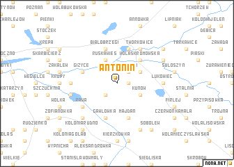 map of Antonin