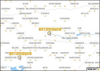 map of Antoniówka