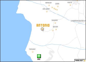 map of Antonio