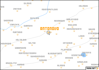 map of Antonovo