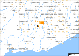 map of Antón