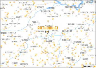 map of Antunovići