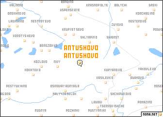 map of Antushovo