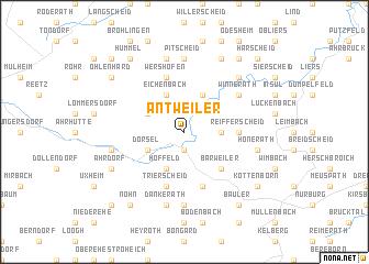map of Antweiler