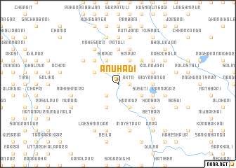 map of Ānuhādi