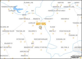 map of Ányás