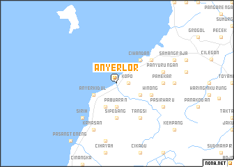 map of Anyer-Lor