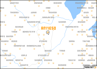 map of Anyieso