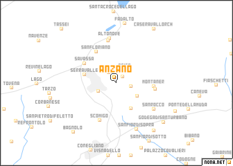 map of Anzano