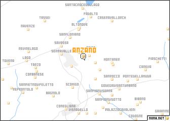 map of Anzano