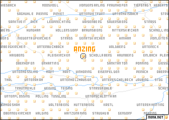 map of Anzing
