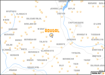 map of Aoudal