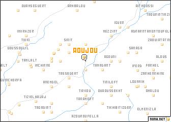 map of Aoujou