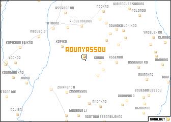 map of Aounyassou