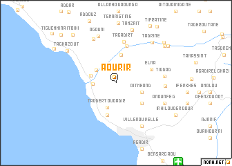 map of Aourir