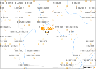 map of Aoussa